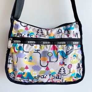 Lesportsac Gnome Penguin Gondola Crossbody Purse